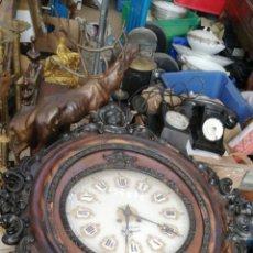 Relojes de pared: IMPRESIONANTE ENORME RELOJ OJO DE BUEY GRAN GOLIAT SIGLO XIX. Lote 130864203