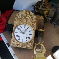 Relojes de pared: ESPECTACULAR RELOJ MOREZ CON CALENDARIO SIGLO XIX IMPECABLE. Lote 130868065
