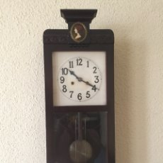 Relojes de pared: RELOJ PARED MARCA ALIX. SONERIA . CRISTAL BISELADO. FUNCIONA. Lote 130965092