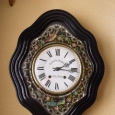 Relojes de pared: MUY BONITO Y ORIGINAL OJO DE BUEY MOREZ- FRONTAL DE PAJAROS PINTADO A MANO- AÑO 1890-REPITE HORAS. Lote 131168924