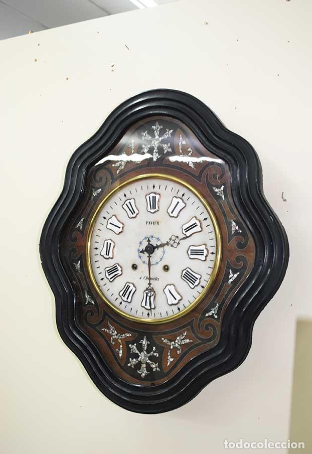 Relojes de pared: RELOJ ANTIGUO DE PARED - RELOJ OJO DE BUEY - Foto 2 - 131987382