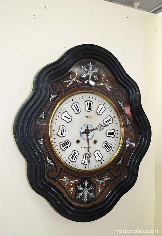 Relojes de pared: RELOJ ANTIGUO DE PARED - RELOJ OJO DE BUEY - Foto 3 - 131987382