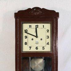Relojes de pared: RELOJ DE PARED ALCOY FUNCIONANDO. Lote 143672280