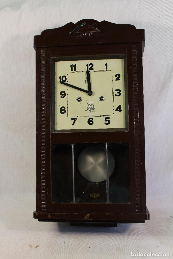 Relojes de pared: RELOJ DE PARED alcoy FUNCIONANDO - Foto 7 - 143672280