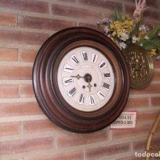 Relojes de pared: ¡¡GRAN OFERTA !!!!ANTIGUO RELOJ ESCUELA MADERA MAQUINARIA PARIS DE FRANCIA - AÑO 1920- LOTE 131. Lote 132798586