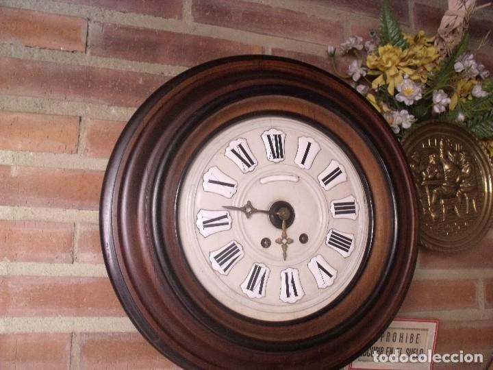 Relojes de pared: ¡¡GRAN OFERTA !!!!Antiguo RELOJ ESCUELA MADERA MAQUINARIA PARIS de Francia - año 1920- lote 131 - Foto 3 - 132798586