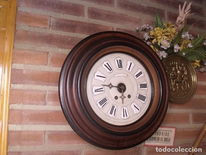 Relojes de pared: ¡¡GRAN OFERTA !!!!Antiguo RELOJ ESCUELA MADERA MAQUINARIA PARIS de Francia - año 1920- lote 131 - Foto 4 - 132798586
