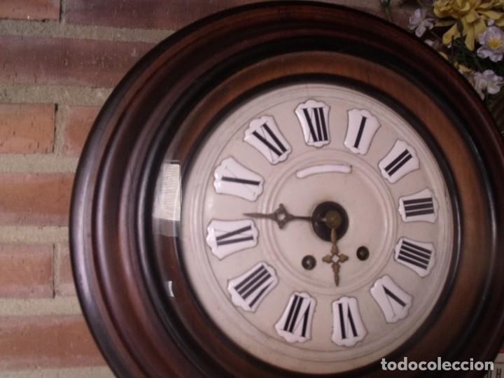 Relojes de pared: ¡¡GRAN OFERTA !!!!Antiguo RELOJ ESCUELA MADERA MAQUINARIA PARIS de Francia - año 1920- lote 131 - Foto 5 - 132798586