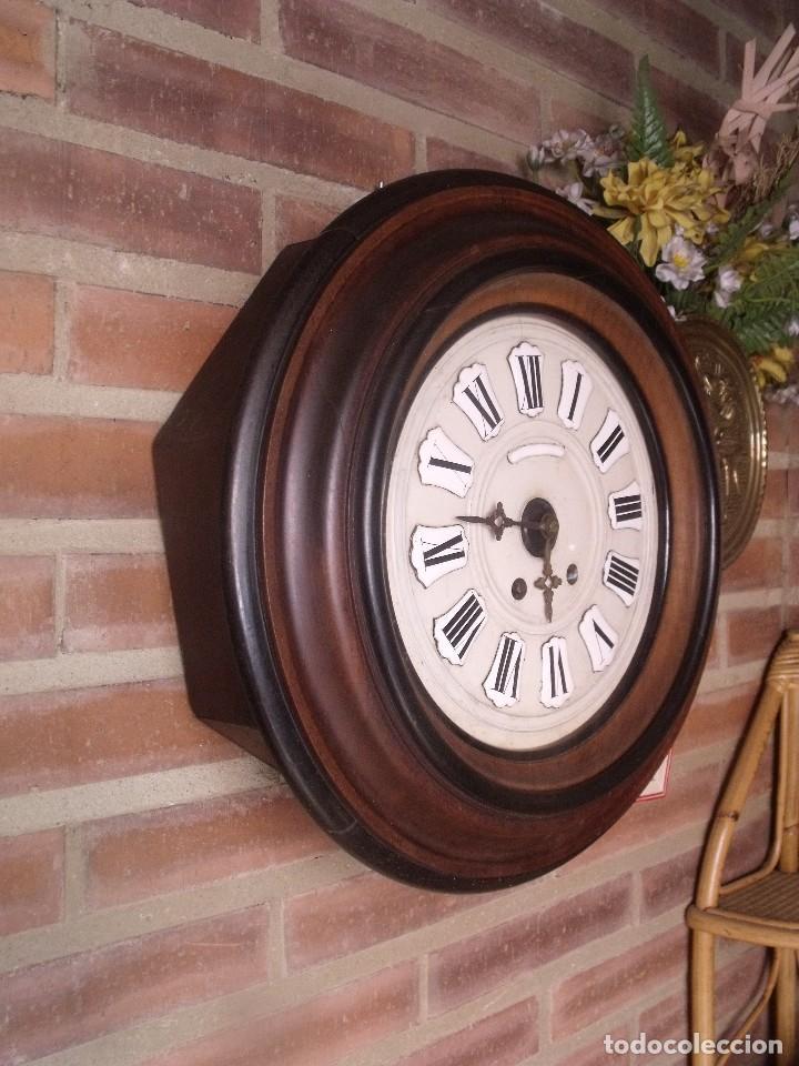 Relojes de pared: ¡¡GRAN OFERTA !!!!Antiguo RELOJ ESCUELA MADERA MAQUINARIA PARIS de Francia - año 1920- lote 131 - Foto 6 - 132798586