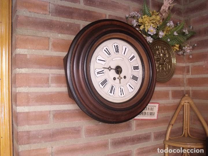 Relojes de pared: ¡¡GRAN OFERTA !!!!Antiguo RELOJ ESCUELA MADERA MAQUINARIA PARIS de Francia - año 1920- lote 131 - Foto 7 - 132798586