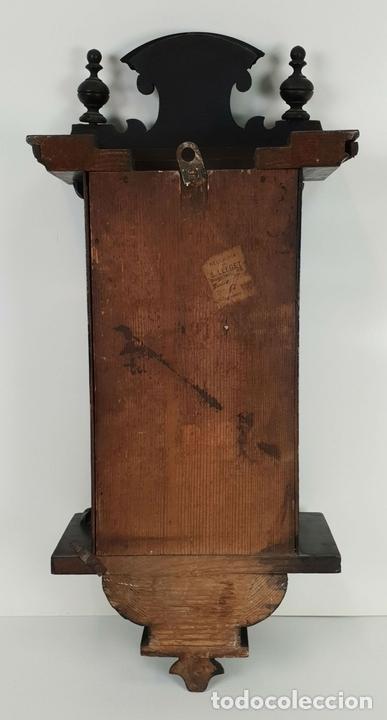 Relojes de pared: RELOJ DE PARED. ESTILO MODERNISTA. SIGLO XIX-XX. - Foto 5 - 132874834