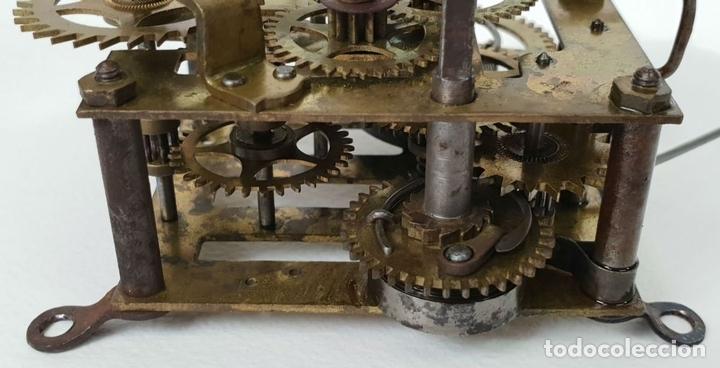 Relojes de pared: RELOJ DE PARED. ESTILO MODERNISTA. SIGLO XIX-XX. - Foto 9 - 132874834
