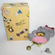 Relojes de pared: RELOJ ELEFANTE INFANTIL DE PARED - A CUERDA - PETTY ANIMAL CLOK - MADE IN JAPAN. Lote 132919166