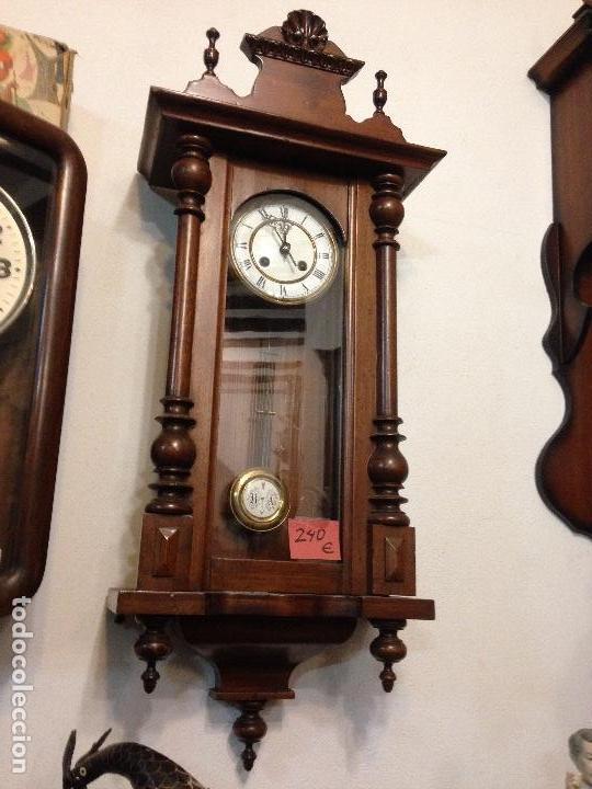 RELOJ DE PARED ALFONSINO , RESTAURADO , FINALES DEL SIGLO XIX (Relojes - Pared Carga Manual)