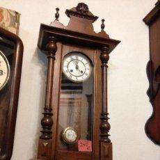 Relojes de pared: RELOJ DE PARED ALFONSINO , RESTAURADO , FINALES DEL SIGLO XIX. Lote 108739283