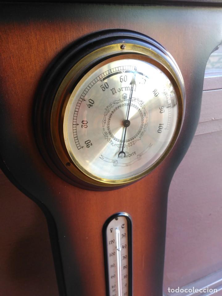 Relojes de pared: Reloj de pared con termómetro barómetro e higrómetro, años 80 - Foto 3 - 134116718
