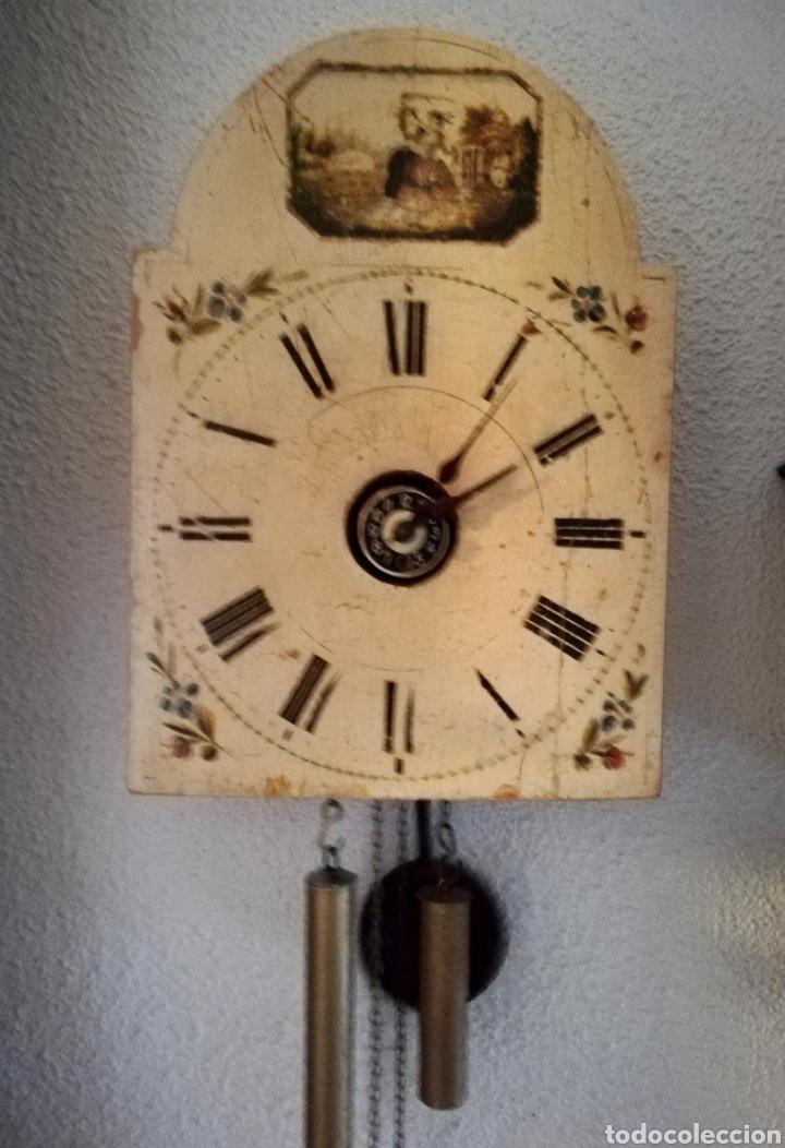 RELOJ RATERA. SELVA NEGRA.1850. VER FOTOS. MOVIMIENTO EN MADERA. SONERIA. LEEME (Relojes - Pared Carga Manual)