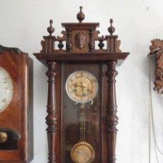 Relojes de pared: ANTIGUO RELOJ DE CUERDA MECÁNICA PARED MILITAR ALEMÁN I GUERRA MUNDIAL 1917 FUNCIONA Y DA CAMPANADAS. Lote 136313094