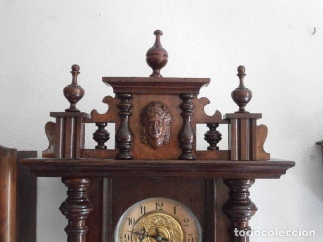Relojes de pared: Antiguo reloj de cuerda mecánica pared militar alemán I guerra mundial 1917 funciona y da campanadas - Foto 3 - 136313094