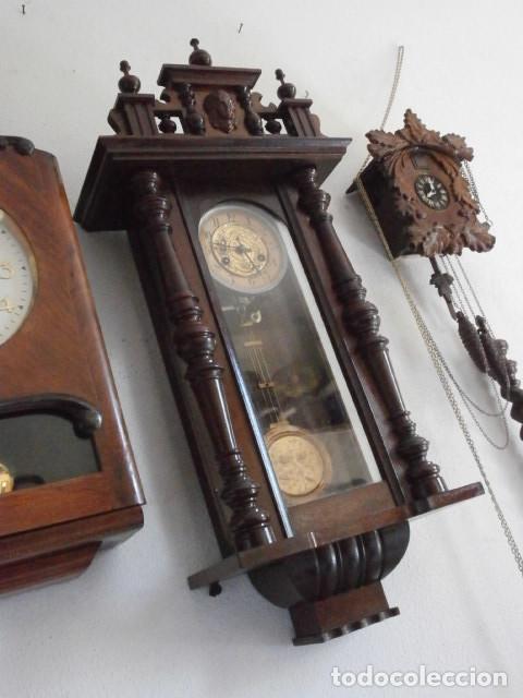 Relojes de pared: Antiguo reloj de cuerda mecánica pared militar alemán I guerra mundial 1917 funciona y da campanadas - Foto 4 - 136313094
