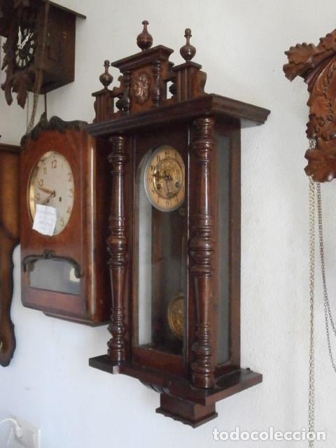Relojes de pared: Antiguo reloj de cuerda mecánica pared militar alemán I guerra mundial 1917 funciona y da campanadas - Foto 6 - 136313094