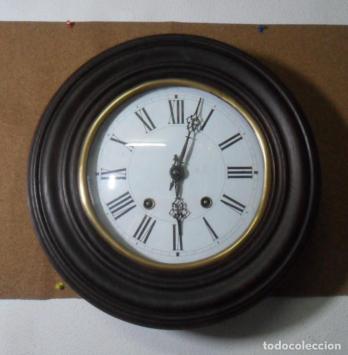 Relojes de pared: Antiguo Reloj Ojo de Buey - Maquinaria Morez - Funciona - Foto 2 - 136492162