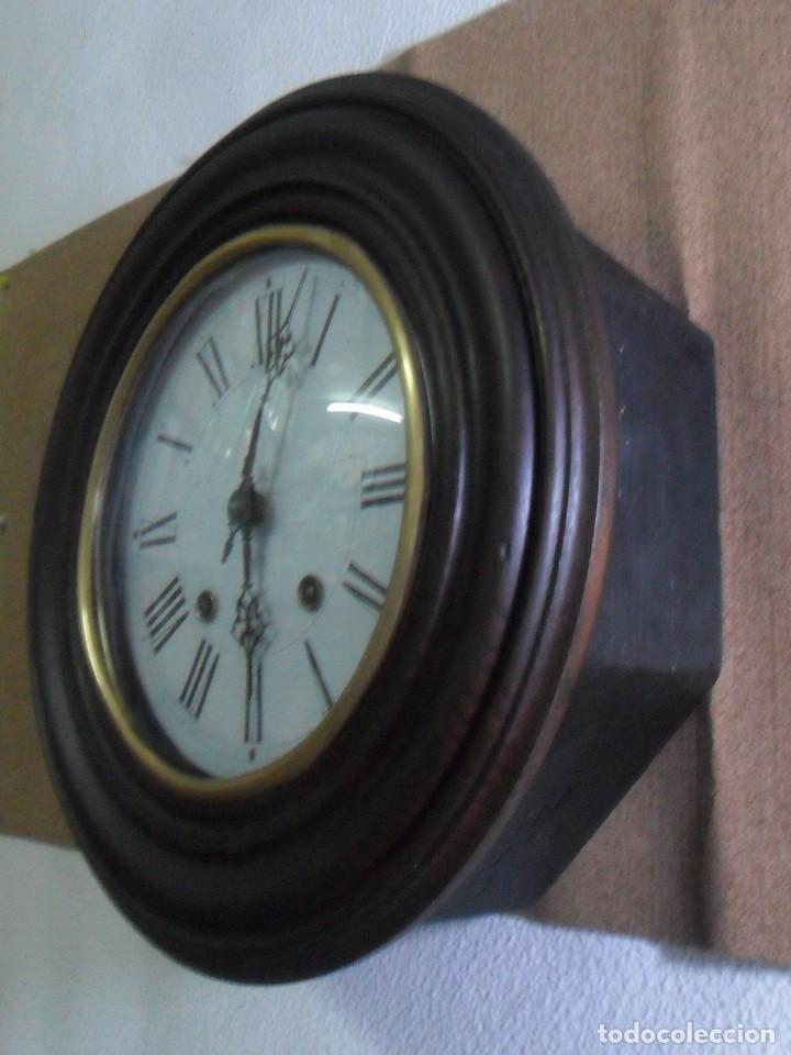 Relojes de pared: Antiguo Reloj Ojo de Buey - Maquinaria Morez - Funciona - Foto 3 - 136492162