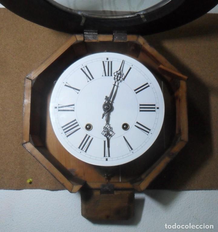 Relojes de pared: Antiguo Reloj Ojo de Buey - Maquinaria Morez - Funciona - Foto 5 - 136492162