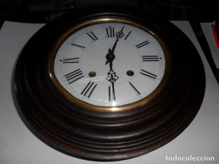 Relojes de pared: Antiguo Reloj Ojo de Buey - Maquinaria Morez - Funciona - Foto 6 - 136492162