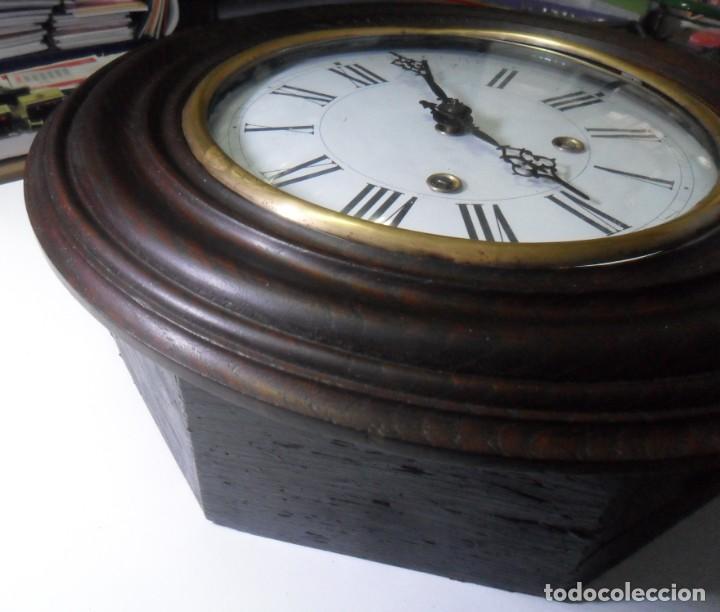 Relojes de pared: Antiguo Reloj Ojo de Buey - Maquinaria Morez - Funciona - Foto 7 - 136492162