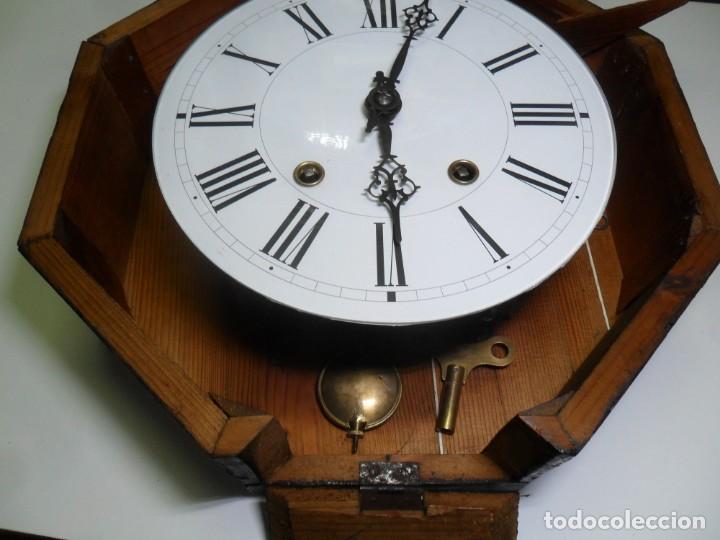 Relojes de pared: Antiguo Reloj Ojo de Buey - Maquinaria Morez - Funciona - Foto 10 - 136492162