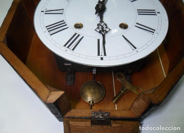 Relojes de pared: Antiguo Reloj Ojo de Buey - Maquinaria Morez - Funciona - Foto 11 - 136492162