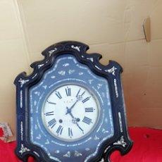 Relojes de pared: MASIVO RELOJ OJO DE BUEY NAPOLEON LLL SUPER NACARADO SIGLO XIX IMPECABLE. Lote 139438964
