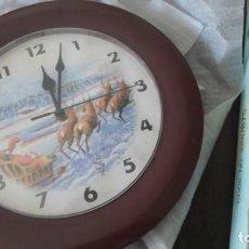 Relojes de pared: RELOJ PARED CON MUSICA VILLANCICOS - A PILAS. Lote 137500002
