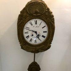 Relojes de pared: RELOJ DE PARED FRANCÉS MORE. CON PÉNDULO. ESFERA IMPECABLE. FINALES SIGLO XIX. LE FALTAN LAS PIEZAS. Lote 137719741