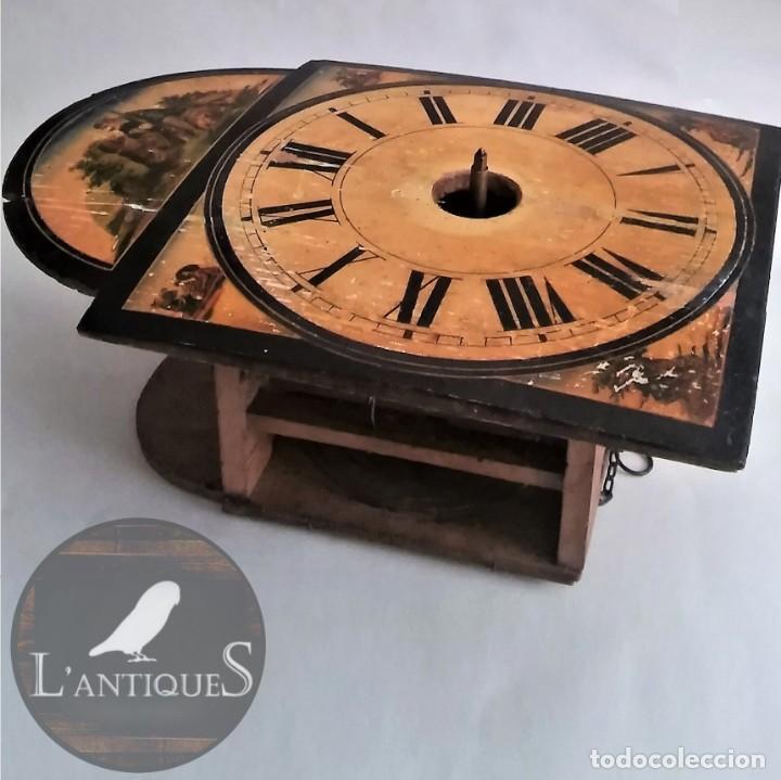RATERA MAQUINARIA COMPLETA Y FUNCIONANDO, SONERÍA GONG RELOJ ORIGINAL SELVA NEGRA ANTIGUO 1850 S XIX (Relojes - Pared Carga Manual)
