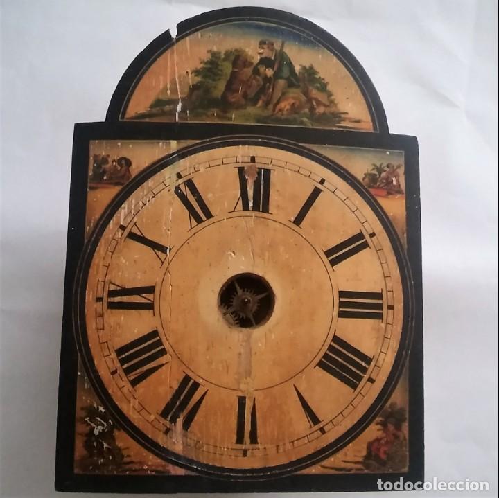 Relojes de pared: Ratera maquinaria completa y funcionando, sonería gong reloj original selva negra antiguo 1850 s XIX - Foto 2 - 137743418