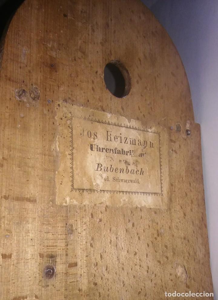 Relojes de pared: Ratera maquinaria completa y funcionando, sonería gong reloj original selva negra antiguo 1850 s XIX - Foto 3 - 137743418