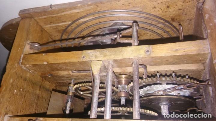 Relojes de pared: Ratera maquinaria completa y funcionando, sonería gong reloj original selva negra antiguo 1850 s XIX - Foto 7 - 137743418