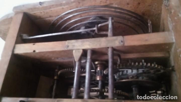 Relojes de pared: Ratera maquinaria completa y funcionando, sonería gong reloj original selva negra antiguo 1850 s XIX - Foto 8 - 137743418