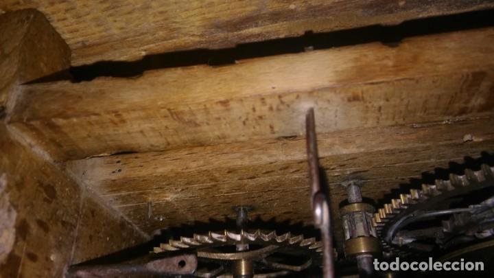 Relojes de pared: Ratera maquinaria completa y funcionando, sonería gong reloj original selva negra antiguo 1850 s XIX - Foto 11 - 137743418