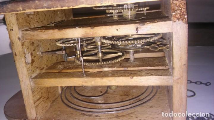 Relojes de pared: Ratera maquinaria completa y funcionando, sonería gong reloj original selva negra antiguo 1850 s XIX - Foto 13 - 137743418