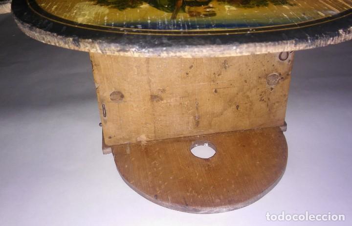 Relojes de pared: Ratera maquinaria completa y funcionando, sonería gong reloj original selva negra antiguo 1850 s XIX - Foto 15 - 137743418