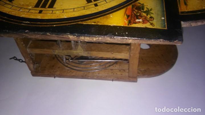 Relojes de pared: Ratera maquinaria completa y funcionando, sonería gong reloj original selva negra antiguo 1850 s XIX - Foto 16 - 137743418