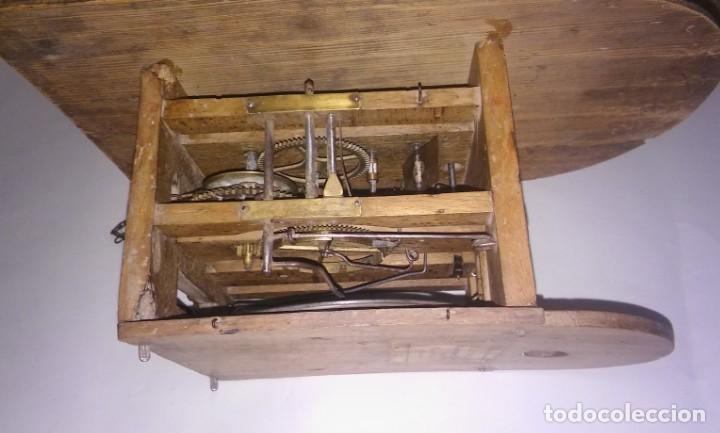 Relojes de pared: Ratera maquinaria completa y funcionando, sonería gong reloj original selva negra antiguo 1850 s XIX - Foto 17 - 137743418