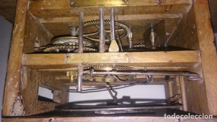 Relojes de pared: Ratera maquinaria completa y funcionando, sonería gong reloj original selva negra antiguo 1850 s XIX - Foto 20 - 137743418
