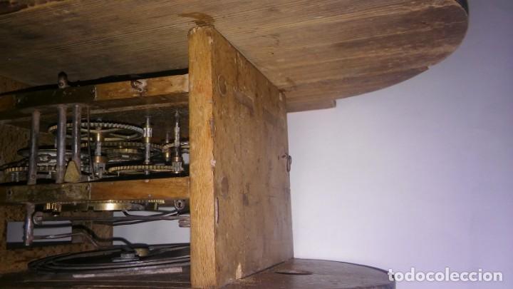 Relojes de pared: Ratera maquinaria completa y funcionando, sonería gong reloj original selva negra antiguo 1850 s XIX - Foto 22 - 137743418