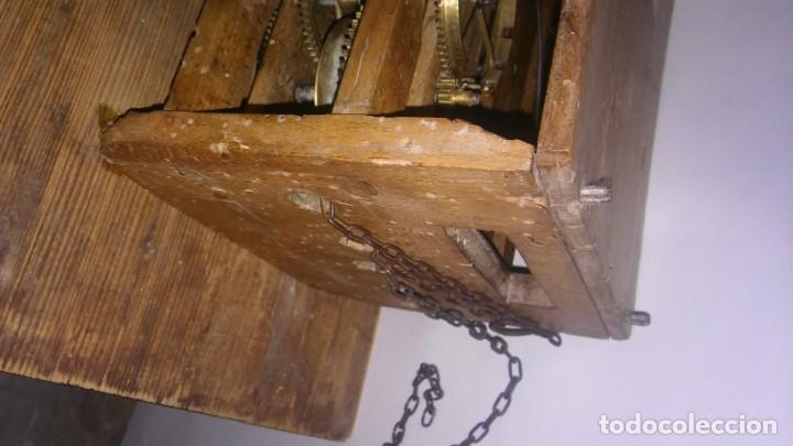 Relojes de pared: Ratera maquinaria completa y funcionando, sonería gong reloj original selva negra antiguo 1850 s XIX - Foto 23 - 137743418