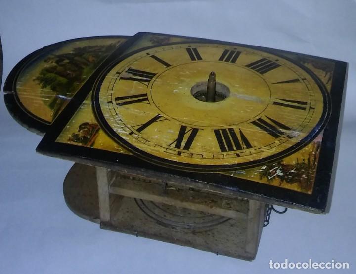 Relojes de pared: Ratera maquinaria completa y funcionando, sonería gong reloj original selva negra antiguo 1850 s XIX - Foto 24 - 137743418