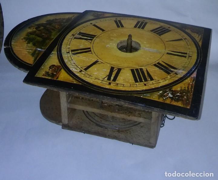Relojes de pared: Ratera maquinaria completa y funcionando, sonería gong reloj original selva negra antiguo 1850 s XIX - Foto 25 - 137743418